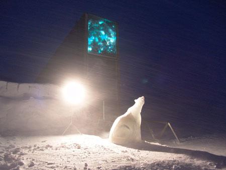 Inngangspartiet. Foto: Mari Tefre/Svalbard Global Seed Vault