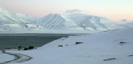 Hvelvet og området rundt. Foto: Mari Tefre/Svalbard globale frøhvelv.