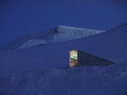 Svalbard Globale frøhvelv: Inngangspartiet. Foto: Mari Tefre/Svalbard Globale frøhvelv