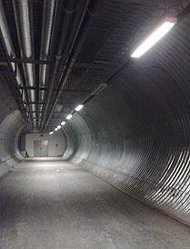 Svalbard Globale frøhvelv: Adkomsttunellen er nå utbedret. Foto: LMD